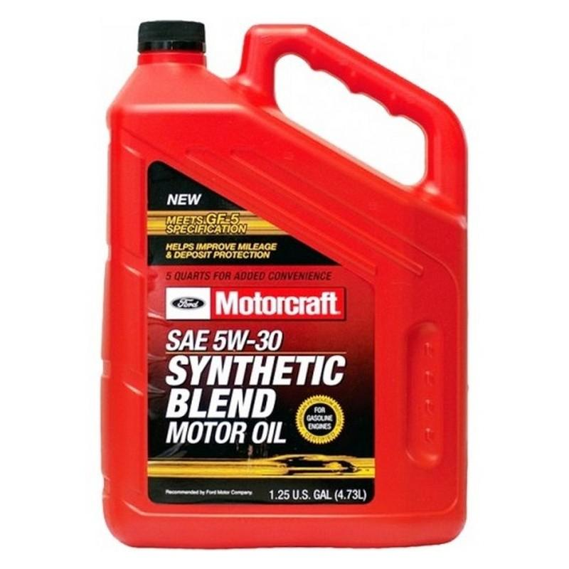 FORD - Motorcraft SAE 5W30 Synthetic Blend Мoтoрнoe мacлo